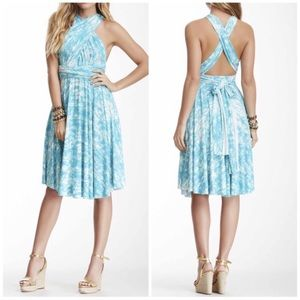 Tart Collections Pleated Halter Empire Dress